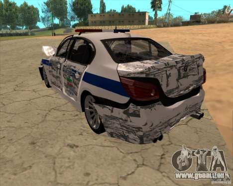 BMW M5 E60 DPS pour GTA San Andreas vue de dessous