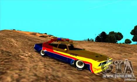 Ford Falcon 351 GT Interceptor Mad Max pour GTA San Andreas sur la vue arrière gauche
