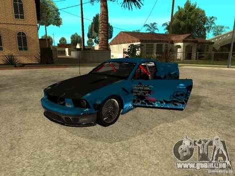 Ford Mustang Drag King pour GTA San Andreas vue de droite