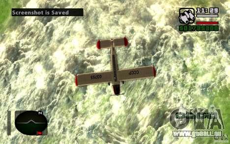 Antonow an-2 für GTA San Andreas Rückansicht