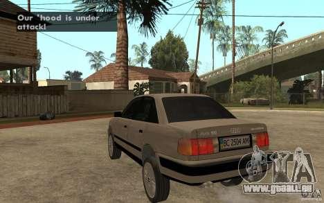 Audi 100 C4 1992 pour GTA San Andreas sur la vue arrière gauche