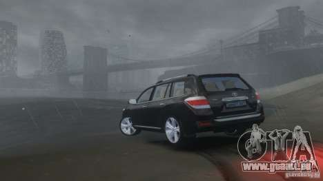 Toyota Highlander 2012 v2.0 pour GTA 4 est une vue de l'intérieur