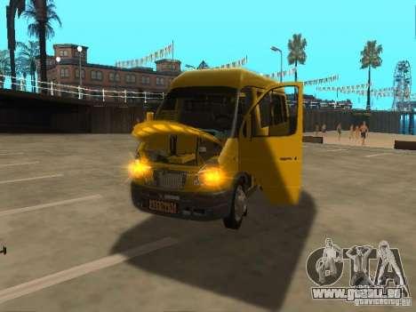 Taxi de Gazelle 2705 pour GTA San Andreas vue de droite