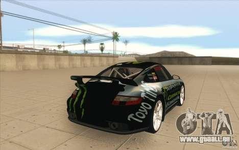 Porsche 997 Rally Edition pour GTA San Andreas vue de côté