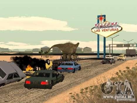 Trailer de dinosaure pour GTA San Andreas vue de droite