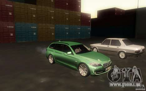 BMW F11 530d Touring pour GTA San Andreas vue intérieure