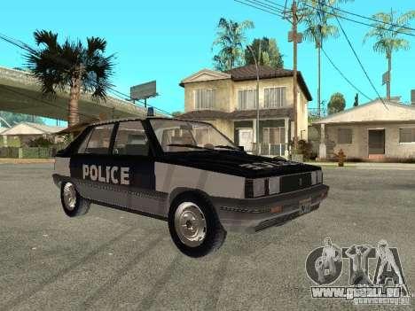 Renault 11 Police pour GTA San Andreas sur la vue arrière gauche