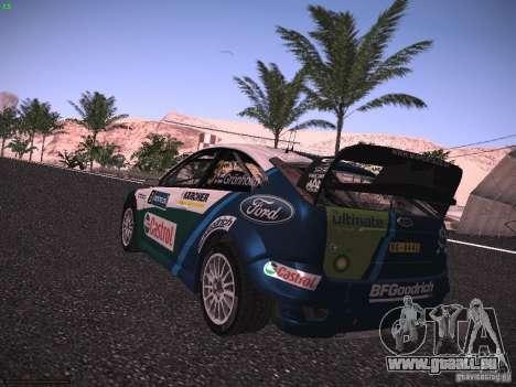 Ford Focus RS WRC 2006 pour GTA San Andreas laissé vue