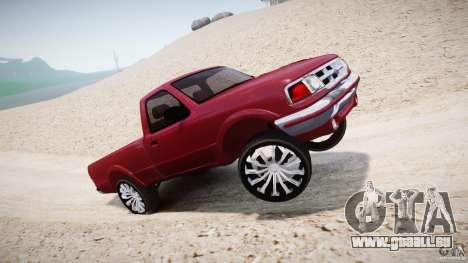 Ford Ranger pour GTA 4 est une vue de dessous