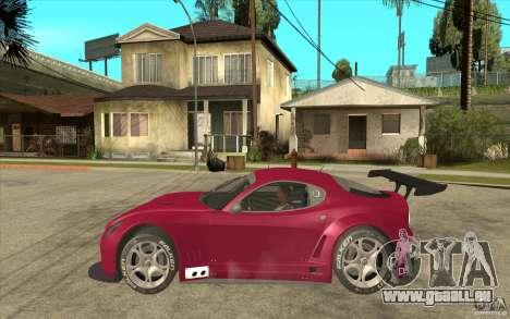 Alfa Romeo 8C GT3 RSX für GTA San Andreas linke Ansicht