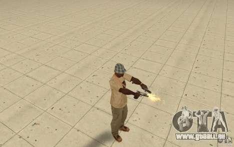 Différents styles de pistolet 9 mm pour GTA San Andreas