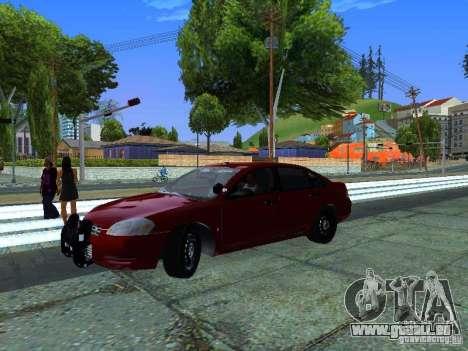 Chevrolet Impala Unmarked pour GTA San Andreas sur la vue arrière gauche