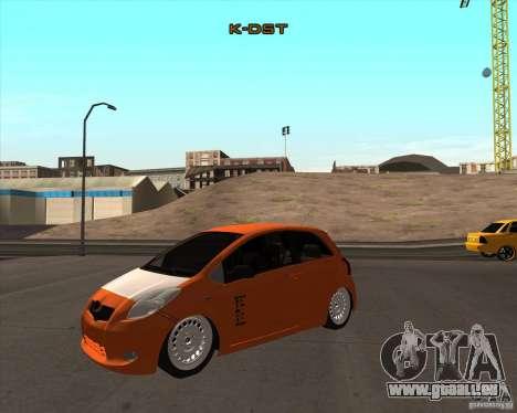 Toyota Yaris II Pac performance für GTA San Andreas rechten Ansicht