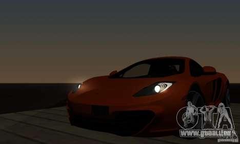 McLaren MP4-12C pour GTA San Andreas sur la vue arrière gauche