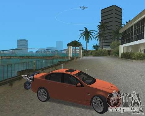 Pontiac G8 GXP pour une vue GTA Vice City de la gauche