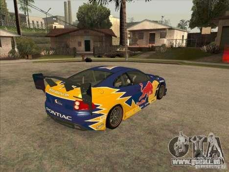 Pontiac GTO Red Bull pour GTA San Andreas vue de droite