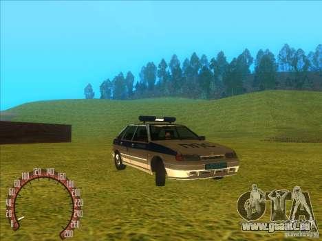 Ваз 2114 russische Polizei für GTA San Andreas rechten Ansicht