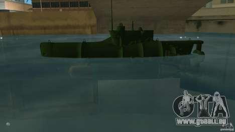 Seehund Midget Submarine skin 1 pour une vue GTA Vice City de la gauche