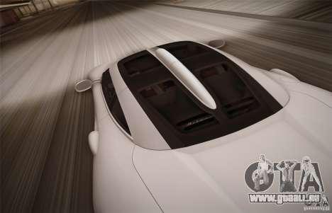 Spyker C8 Aileron für GTA San Andreas obere Ansicht