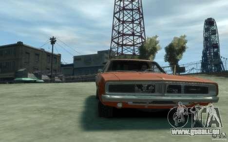 Dodge Charger General Lee v1.1 für GTA 4 Rückansicht