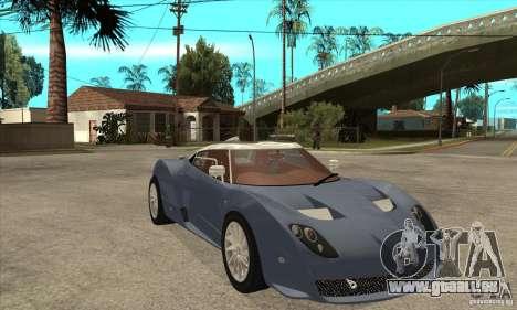 Spyker C12 Zagato für GTA San Andreas Rückansicht