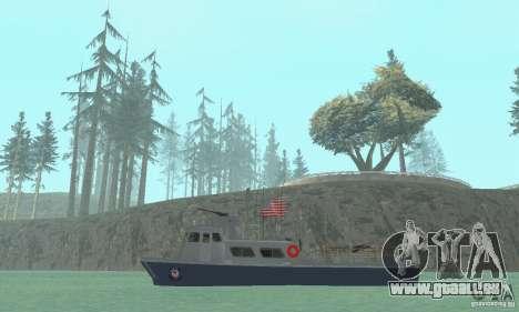 Coast Guard Patrol Boat pour GTA San Andreas sur la vue arrière gauche
