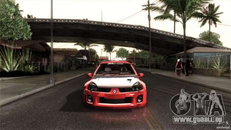 Renault Clio V6 Sport Track Car für GTA San Andreas linke Ansicht