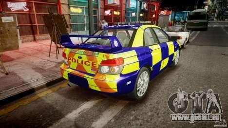 Subaru Impreza WRX Police [ELS] für GTA 4 Seitenansicht