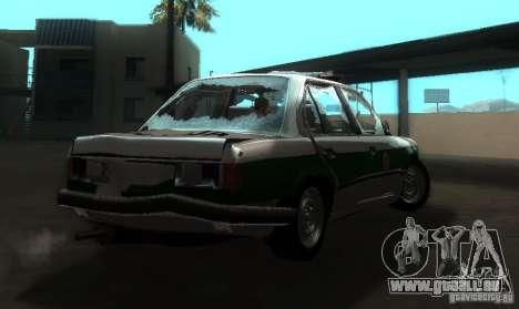 BMW E30 Sedan Police pour GTA San Andreas vue de droite