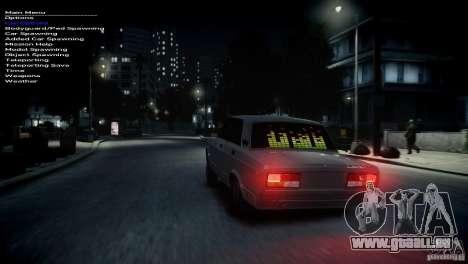 VAZ 2107 pour GTA 4 est une gauche