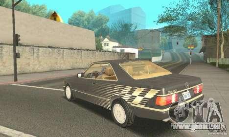 Mercedes-Benz W126 560SEC pour GTA San Andreas vue intérieure