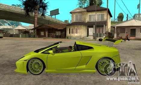 Lamborghini Gallardo LP560-4 Hamann für GTA San Andreas linke Ansicht