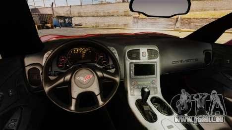Chevrolet Corvette Z51 pour GTA 4 Vue arrière