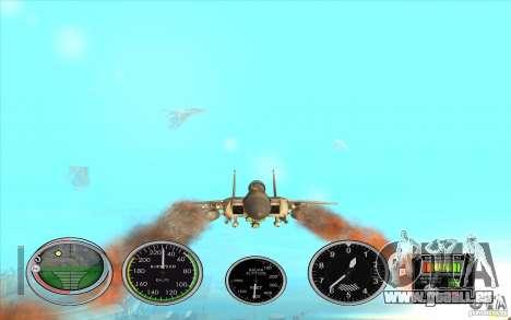 Lancement rapide de la fusée à Hydra et Hunter pour GTA San Andreas deuxième écran