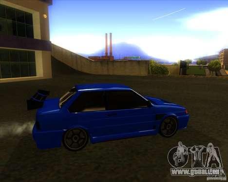 VAZ-2115-Coupé für GTA San Andreas zurück linke Ansicht