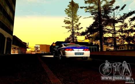Acura RSX-S Polizei für GTA San Andreas Innenansicht