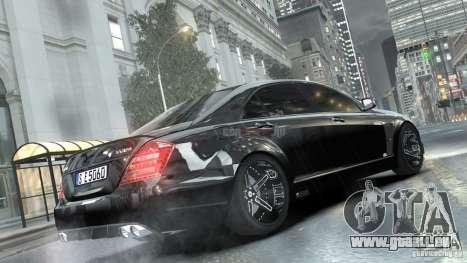 Mercedes-Benz Brabus SV12 R Biturbo 800 2011 pour GTA 4 est une gauche