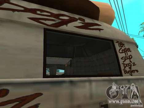 Nettoyez la vitre dans le Hotdog-e pour GTA San Andreas vue de droite