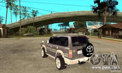 Toyota Land Cruiser 80 pour GTA San Andreas sur la vue arrière gauche