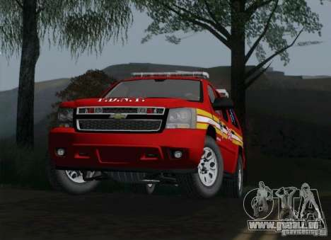 Chevrolet Suburban EMS Supervisor 862 pour GTA San Andreas vue de droite