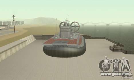 Aéroglisseur pour GTA San Andreas vue de droite