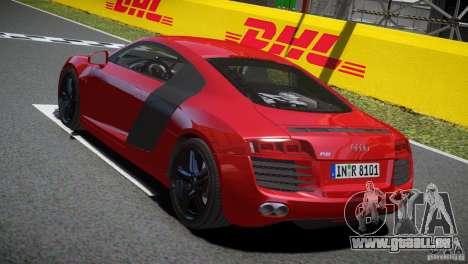 Audi R8 V8 2008 v2.0 pour GTA 4 est un droit