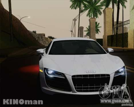 Audi R8 v10 2010 pour GTA San Andreas salon