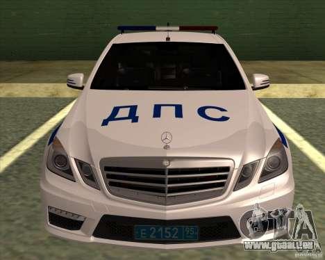 Mercedes-Benz E63 AMG W212 pour GTA San Andreas sur la vue arrière gauche