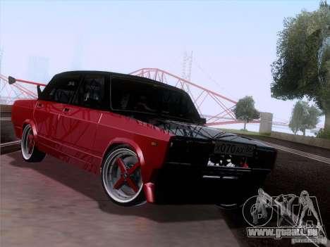 VAZ 2107 voiture Tuning pour GTA San Andreas sur la vue arrière gauche