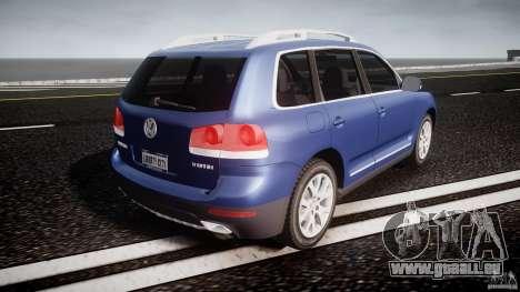Volkswagen Touareg 2008 TDI pour GTA 4 vue de dessus