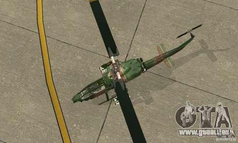 AH-1 super cobra für GTA San Andreas Rückansicht