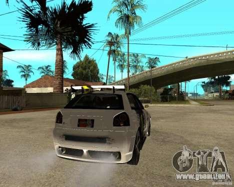 Audi S3 Monster Energy pour GTA San Andreas sur la vue arrière gauche