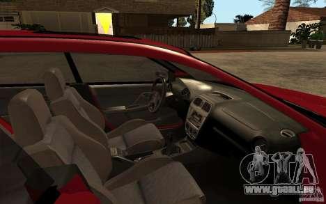 Subaru Impreza WRX Wagon 2002 pour GTA San Andreas vue intérieure