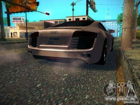 Audi R8 V10 pour GTA San Andreas sur la vue arrière gauche